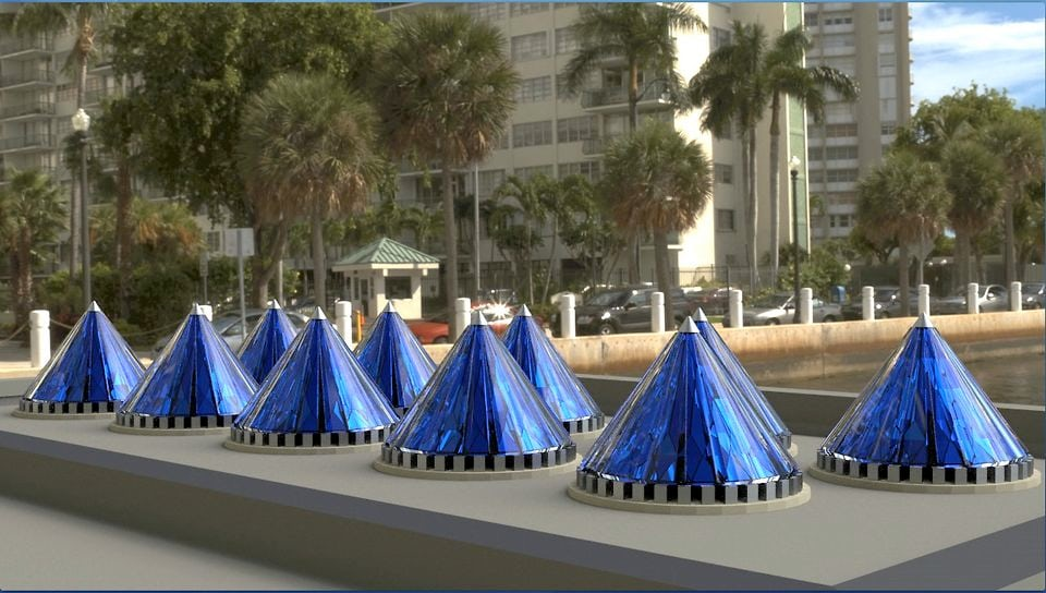 V3Solar Spinning Photovoltaic Cones 1